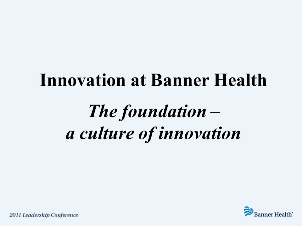 The Mission Statement Is it a foundation for innovation?