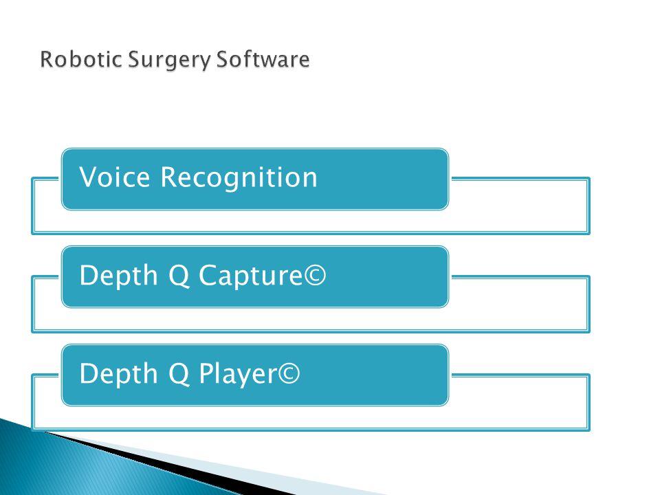Voice RecognitionDepth Q Capture©Depth Q Player©