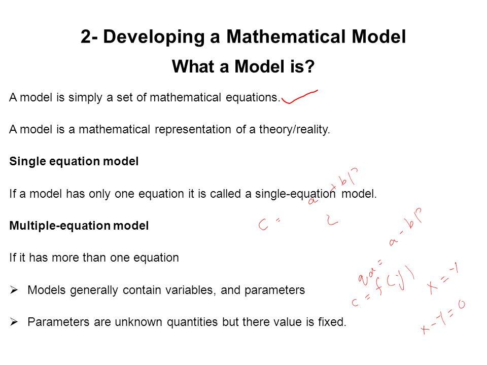How to Develop a Quantitative Model….