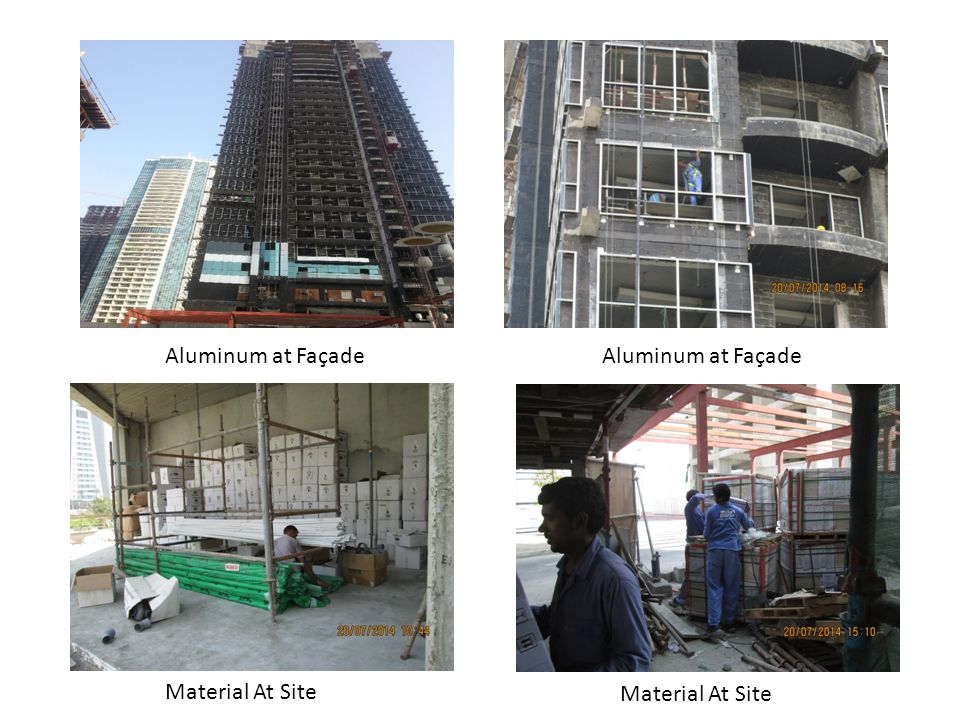 Aluminum at Façade Material At Site