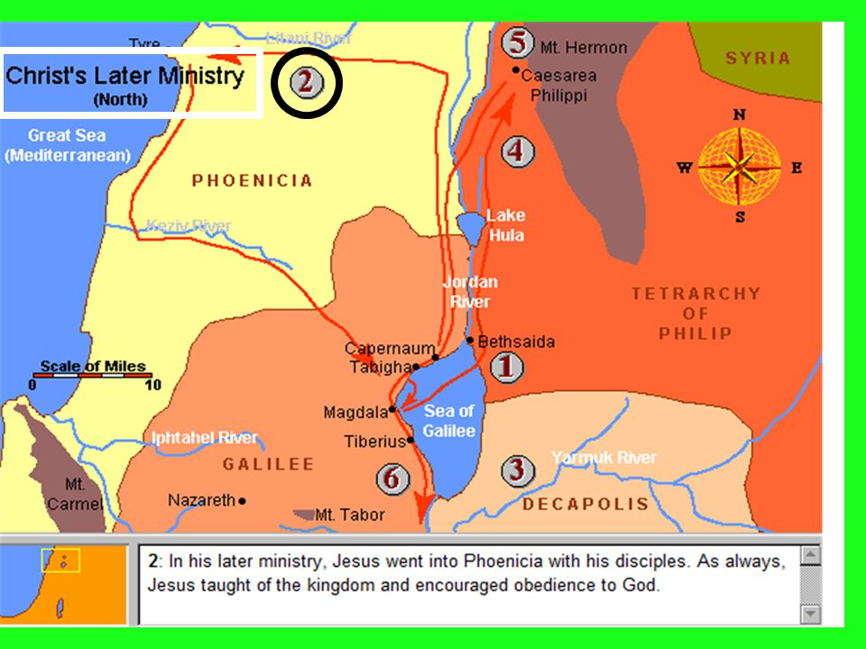 5 Gospel in Geography Mark 3:7-8 7 But Jesus withdrew with His disciples to the sea.