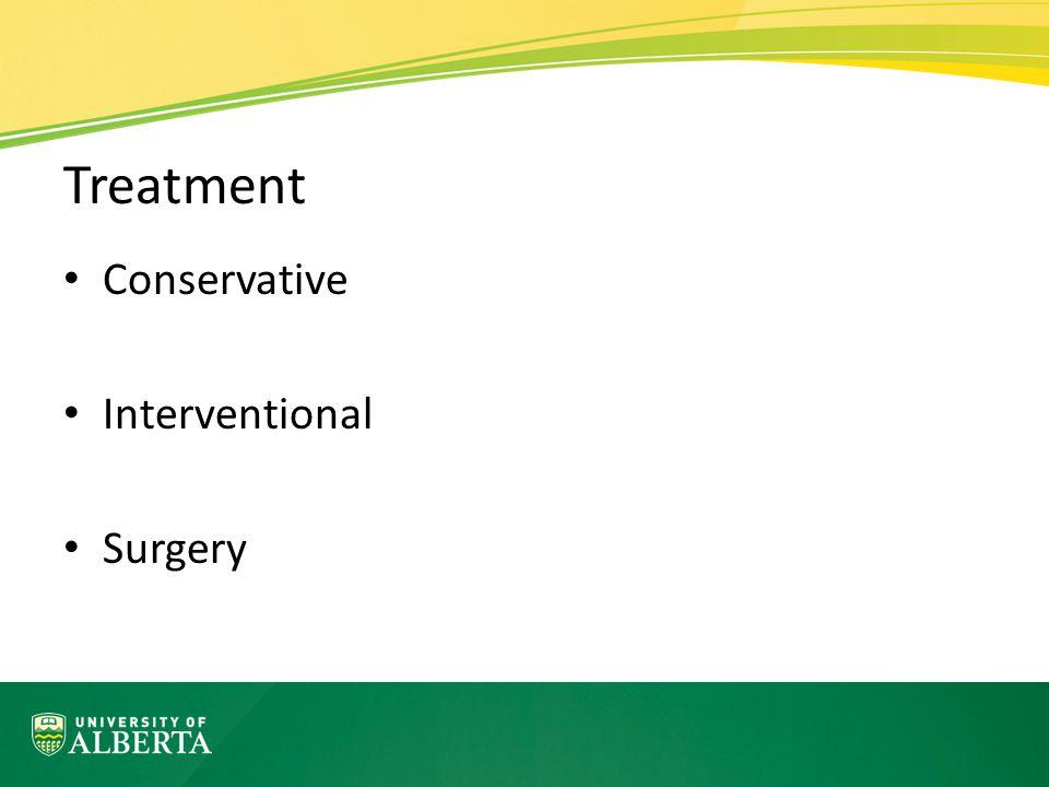 Treatment Conservative Interventional Surgery