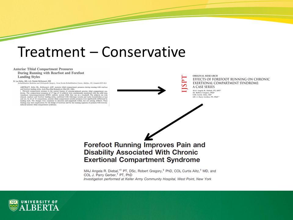 Treatment – Conservative