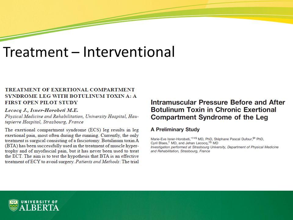 Treatment – Interventional
