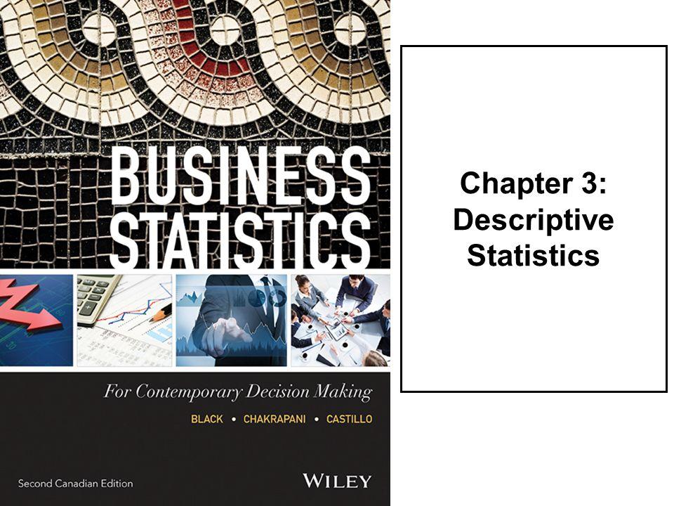 Chapter 3: Descriptive Statistics