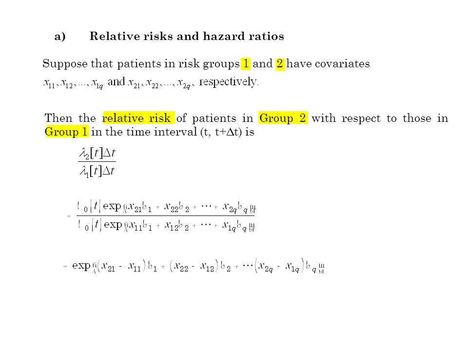 c) Interaction terms in hazard regression models See also Chapter IV, Section 14 on logistic regression analysis.