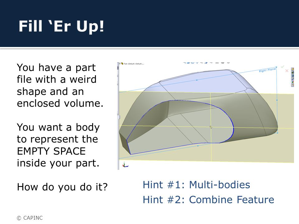 You have a part file with a weird shape and an enclosed volume.