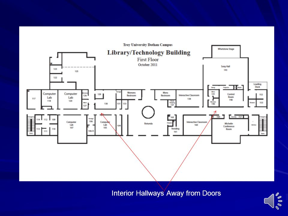 Interior Hallways Away from Doors