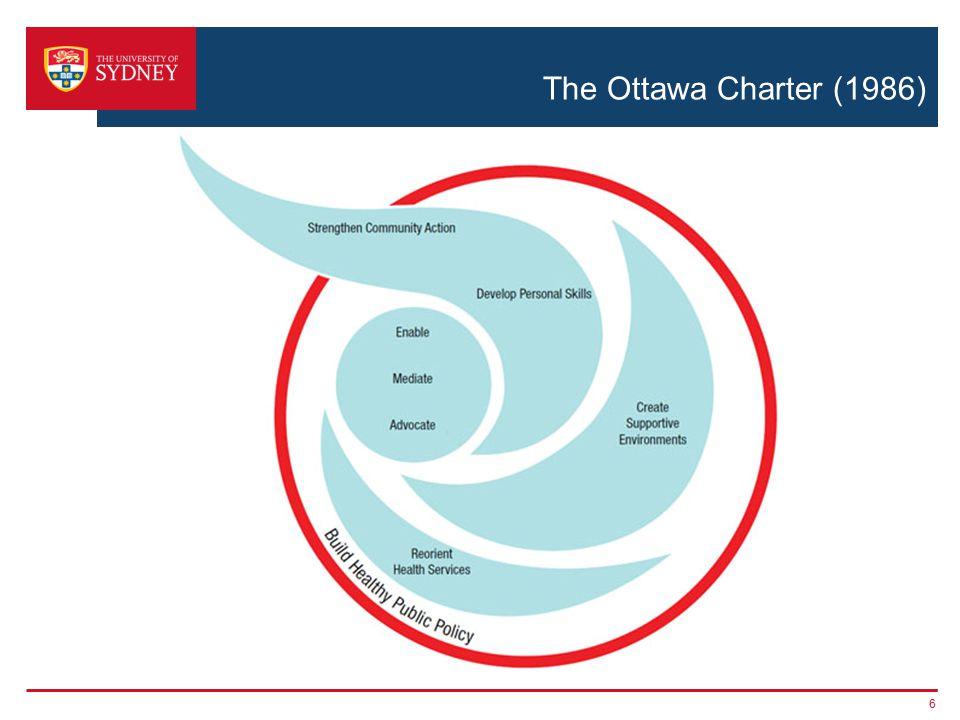 The Ottawa Charter (1986) 6