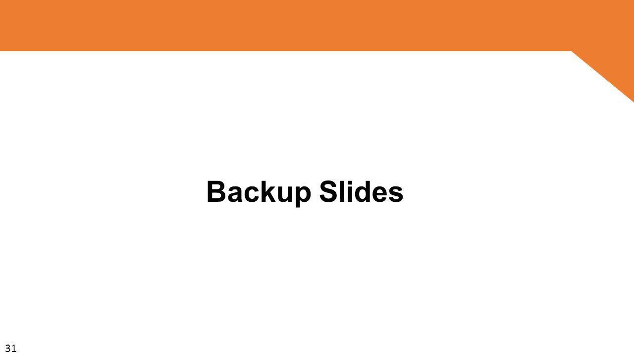 Backup Slides 31