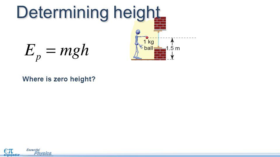 Where is zero height? Determining height