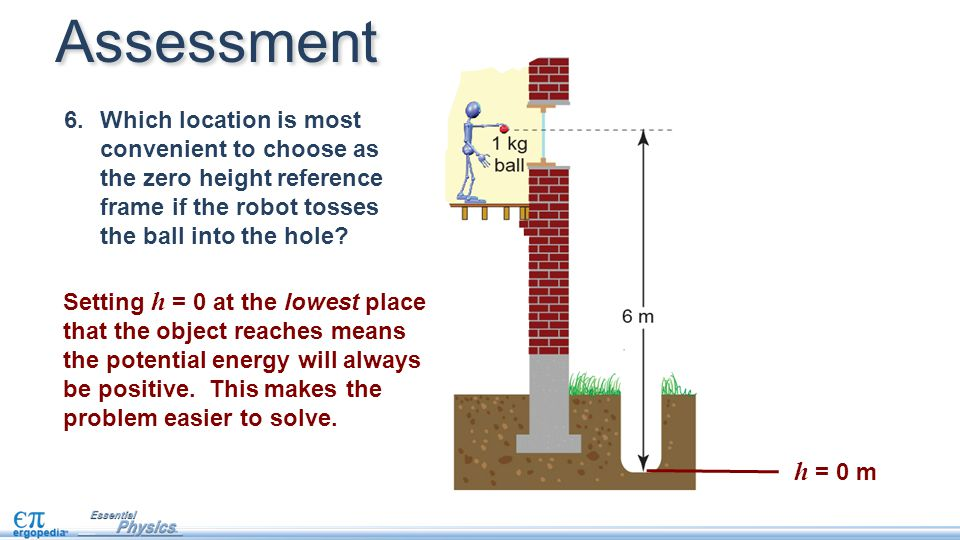 Setting h = 0 at the lowest place that the object reaches means the potential energy will always be positive.