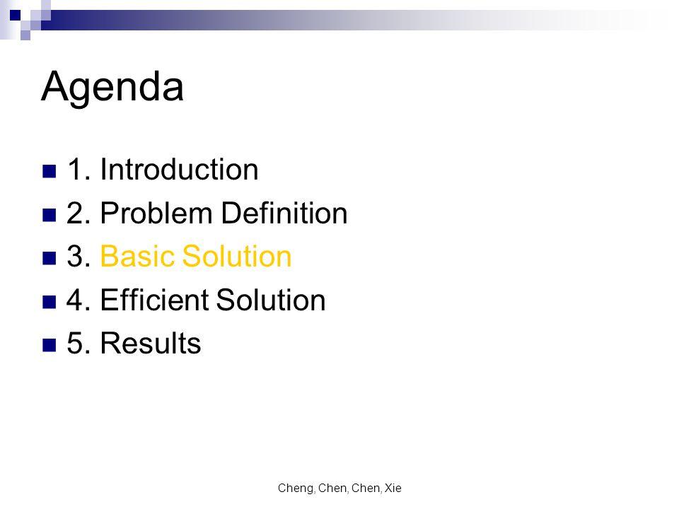 Cheng, Chen, Chen, Xie Agenda 1. Introduction 2. Problem Definition 3.