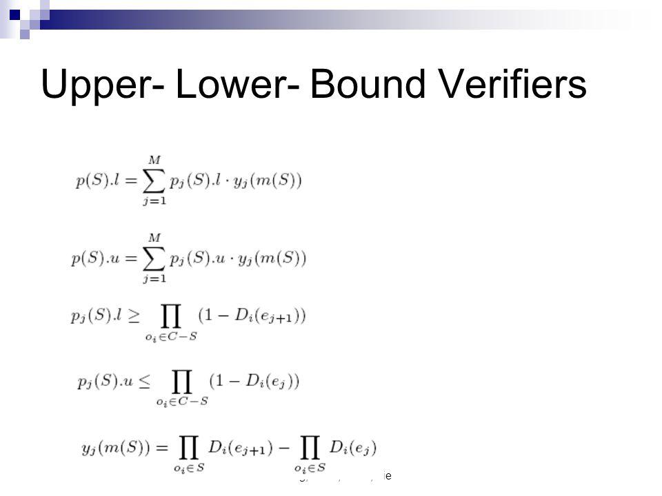 Cheng, Chen, Chen, Xie Upper- Lower- Bound Verifiers