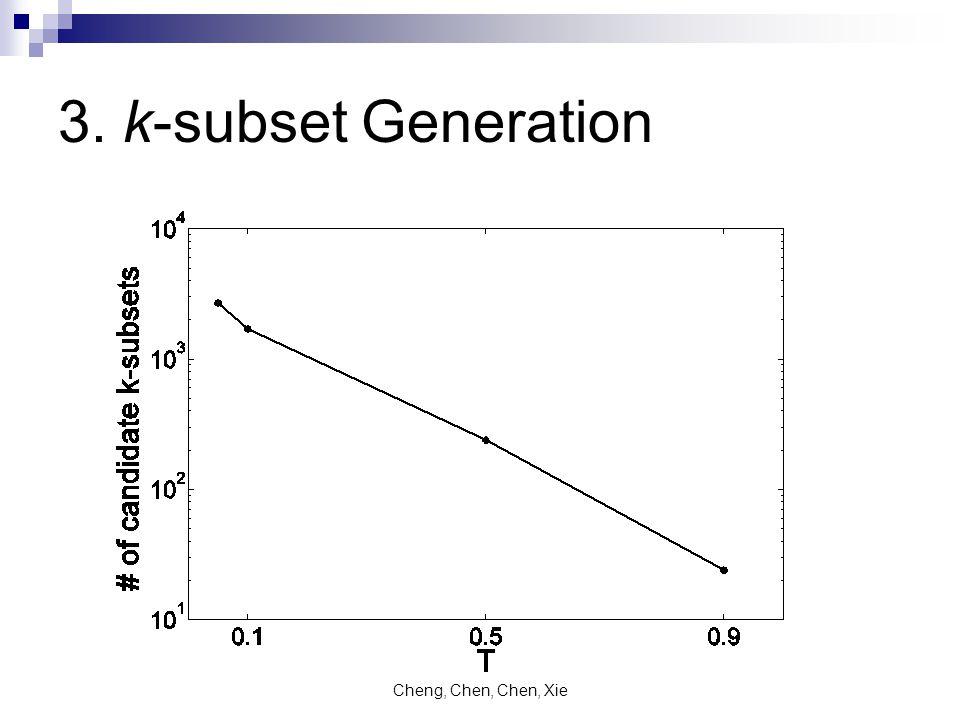 Cheng, Chen, Chen, Xie 3. k-subset Generation