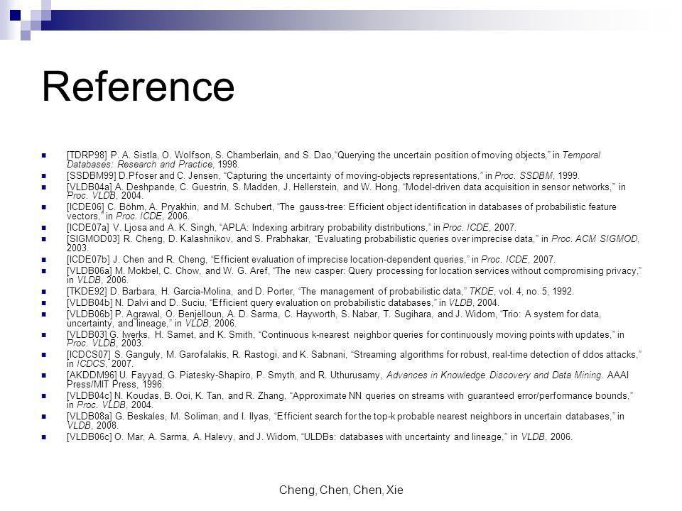 Cheng, Chen, Chen, Xie Reference [TDRP98] P. A. Sistla, O.
