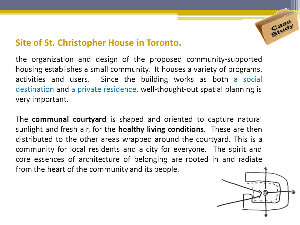 Site of St. Christopher House in Toronto.
