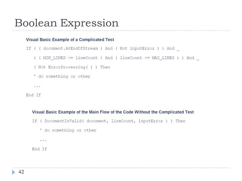 Boolean Expression 42