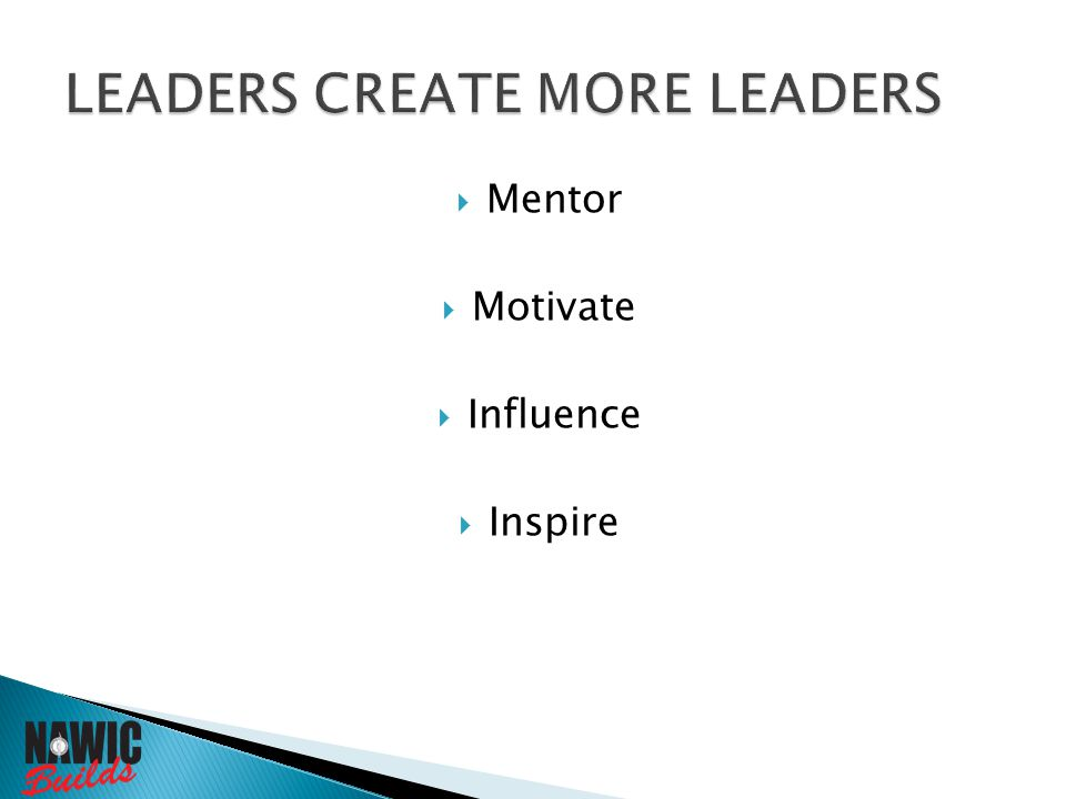  Mentor  Motivate  Influence  Inspire