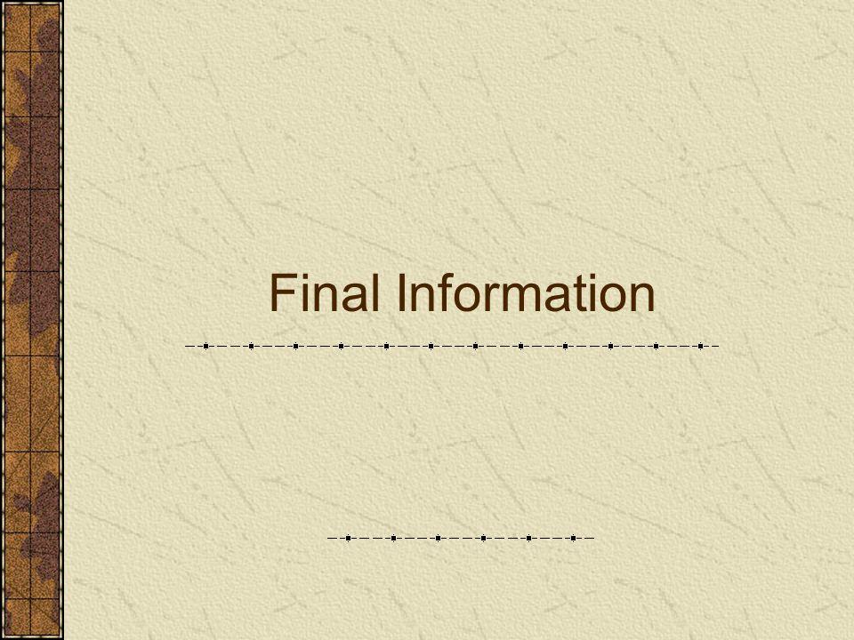 Final Information