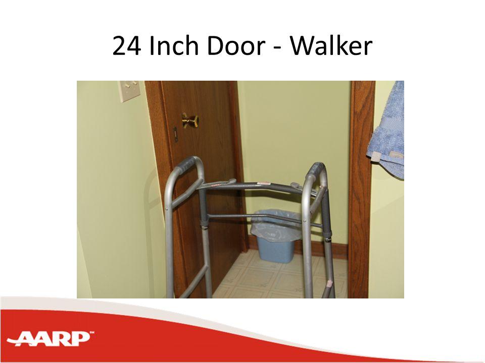 """Typical Home Front door 35"""" wide 33"""" opening Bathroom doors 27"""" wide 26"""" opening Bedroom doors 30"""" wide 29"""" opening"""