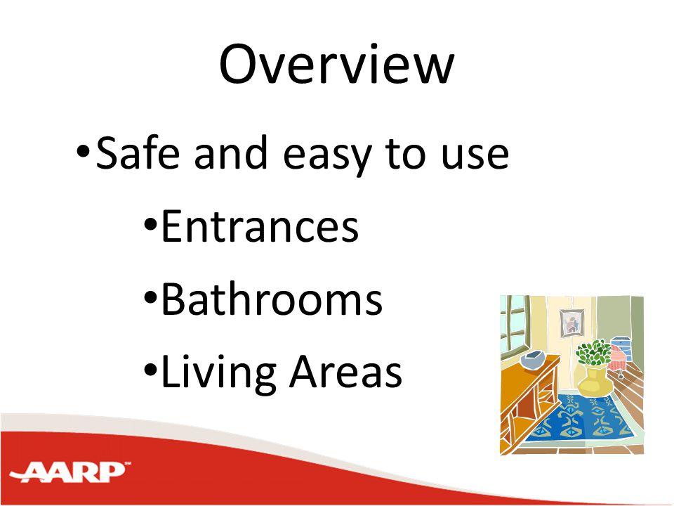 Lighting in the Home Adequate lighting is needed Hallways Stairways Entrances Living areas Bedrooms Bathrooms