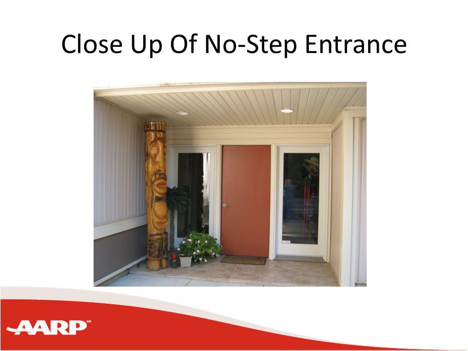 Close Up Of No-Step Entrance
