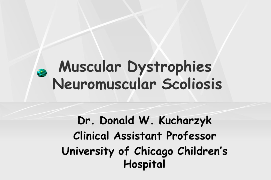 Muscular Dystrophies Neuromuscular Scoliosis Spinal Deformities Scoliosis develops in 25% of the patients while they are still able to walk Curves that progress to 35 to 40 degree's will continue to worsen If left untreated, most curves will progress beyond 90 degree's As curves increase,increased difficulty with sitting, increasing pain, and respiratory problems develop