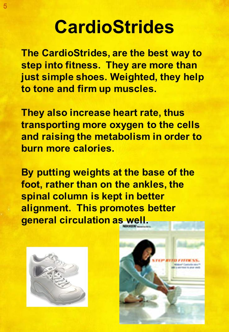 CardioStrides 6 Nikken Cardiostrides offer an integrated muscular resistance which allows you to exercise by merely doing your normal daily activities.