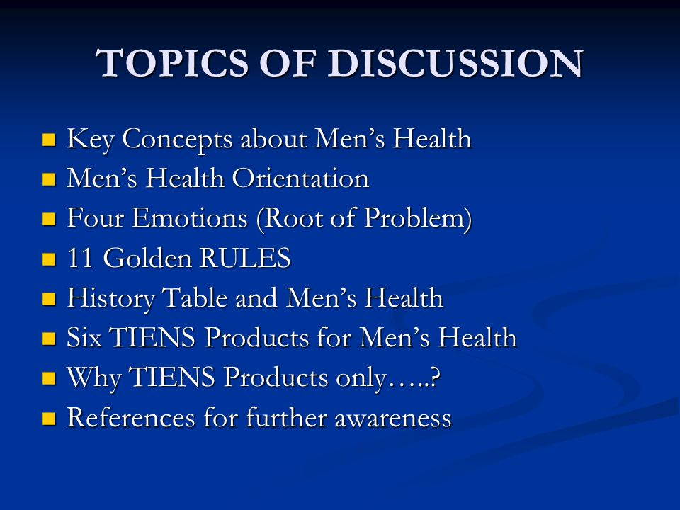 Six Tiens Products For Men's Health  Zinc Plus  Triple Ginseng  Essential System  Men's Formula  Manka Balance Capsules  Mind Calm Never use all of these all together.