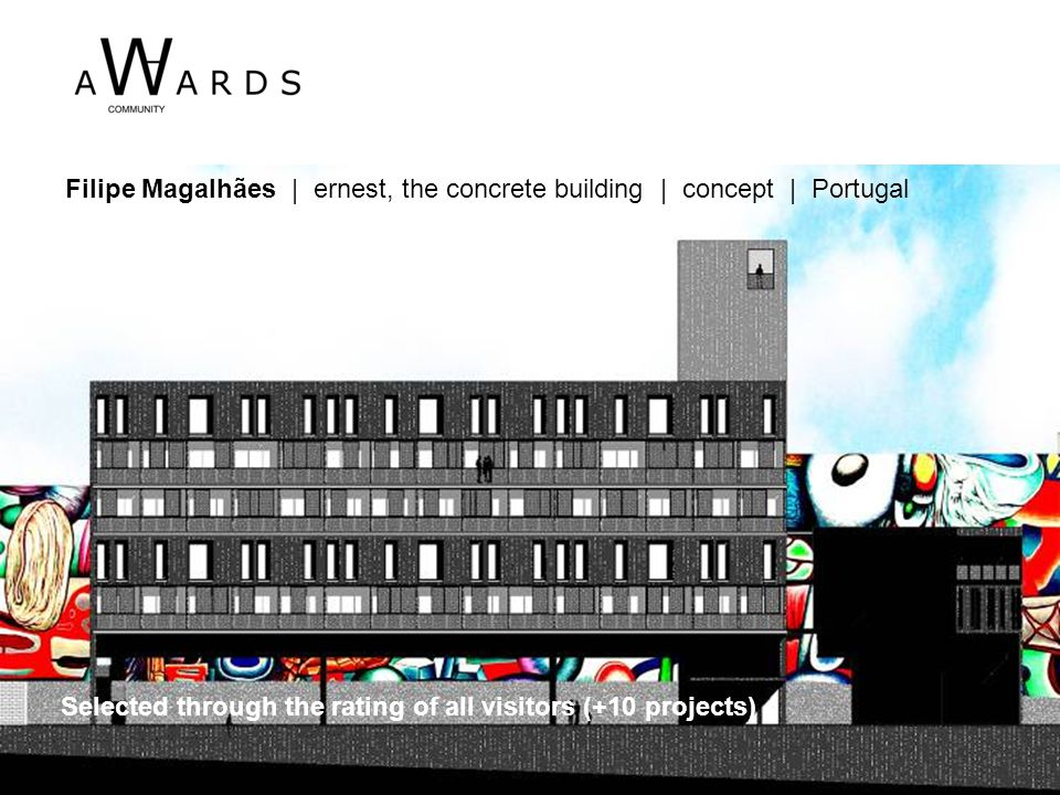 Filipe Magalhães | ernest, the concrete building | concept | Portugal Selected through the rating of all visitors (+10 projects)