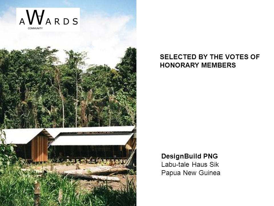 HAS ARCHITECTURE EKOYapi | concept Turkey SELECTED BY THE VOTES OF HONORARY MEMBERS