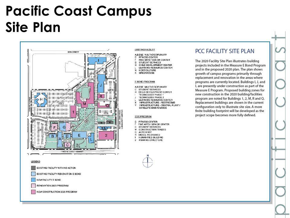 PCC Facility Site Plan p a c i f i c c o a s t Pacific Coast Campus Site Plan