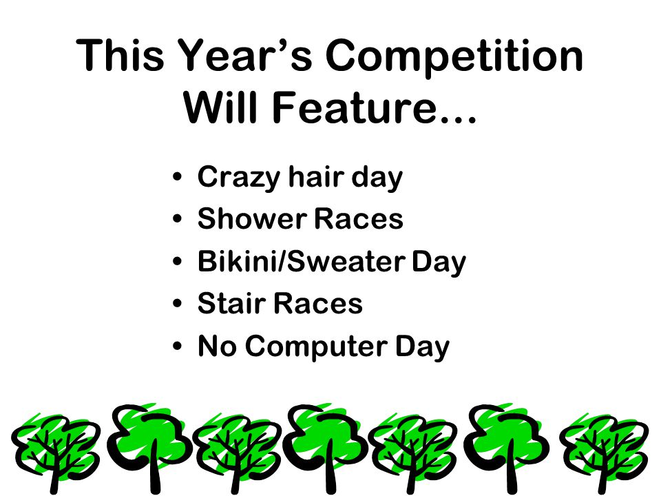 This Year's Competition Will Feature...