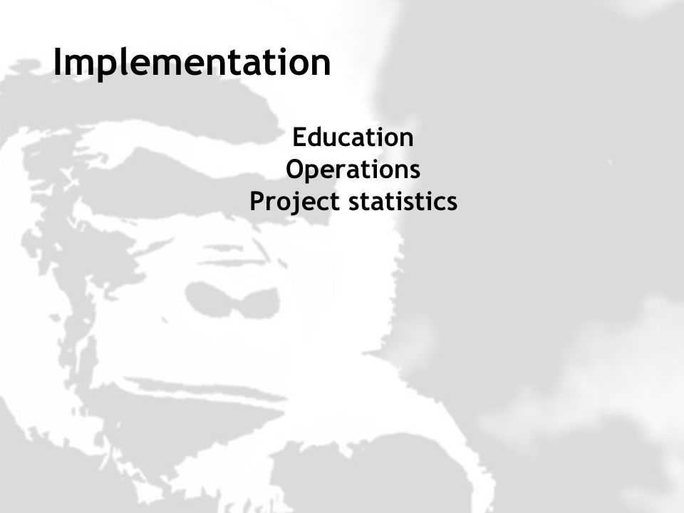 Education Operations Project statistics Implementation