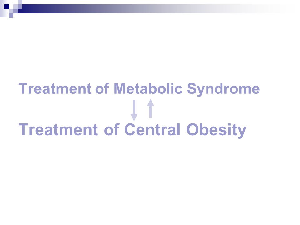 Treatment of Metabolic Syndrome Treatment of Central Obesity