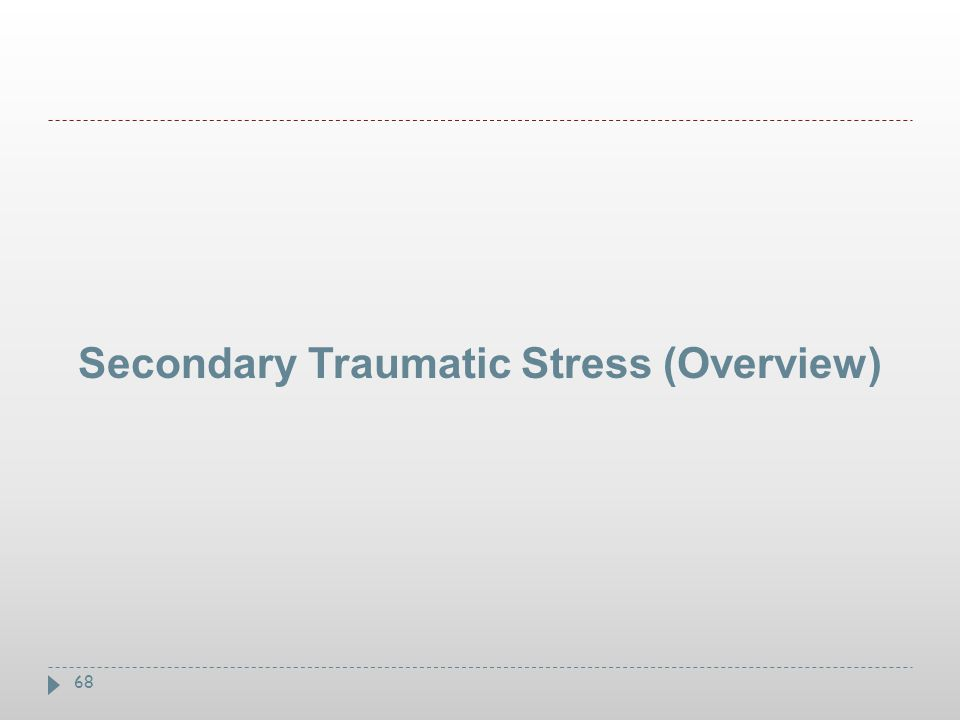68 Secondary Traumatic Stress (Overview)
