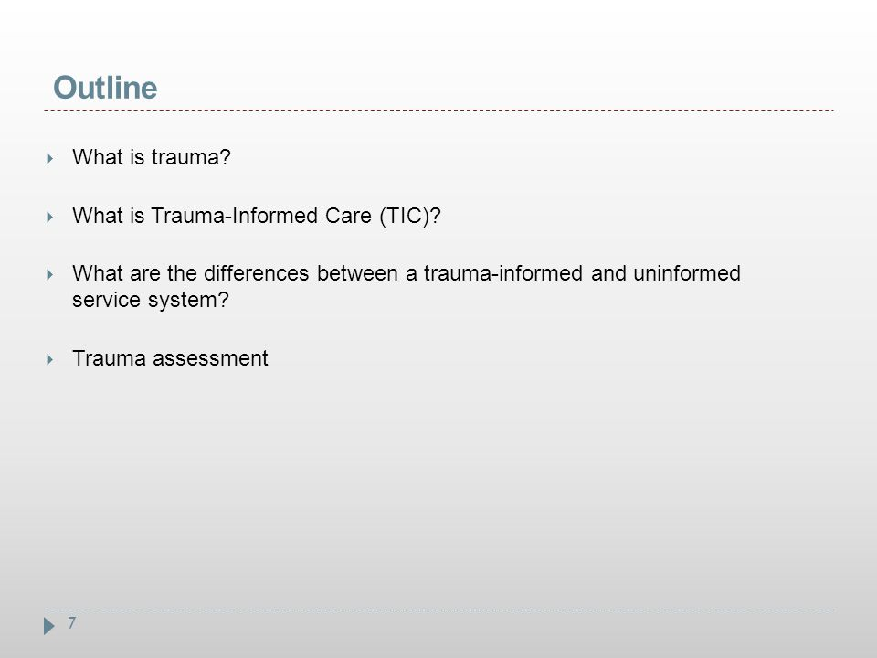 48  Trauma  Traumatic Stress  Traumatic Stress Disorders  Trauma-Informed Care  Trauma-Specific Services Shared Definitions