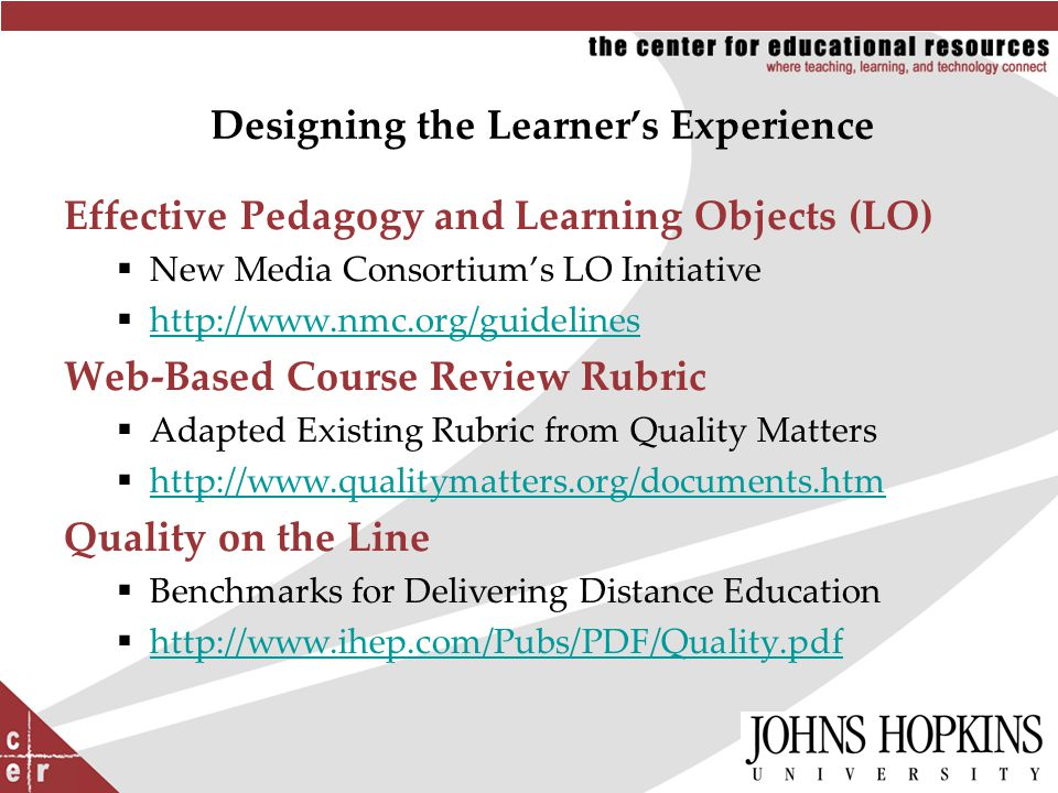 Click to edit Master title style Designing the Learner's Experience Effective Pedagogy and Learning Objects (LO)  New Media Consortium's LO Initiativ