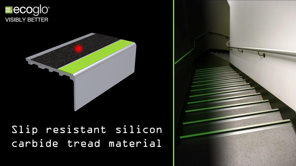 Slip resistant silicon carbide tread material