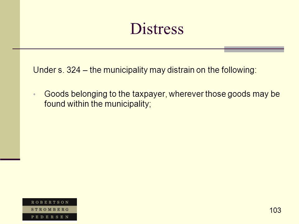 103 Distress Under s.