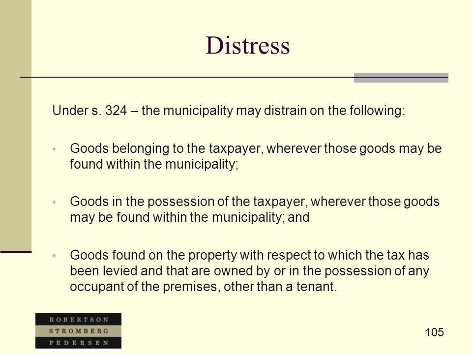 105 Distress Under s.