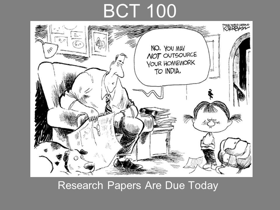 BCT 100 Final Exam is next week, December 7, 2009