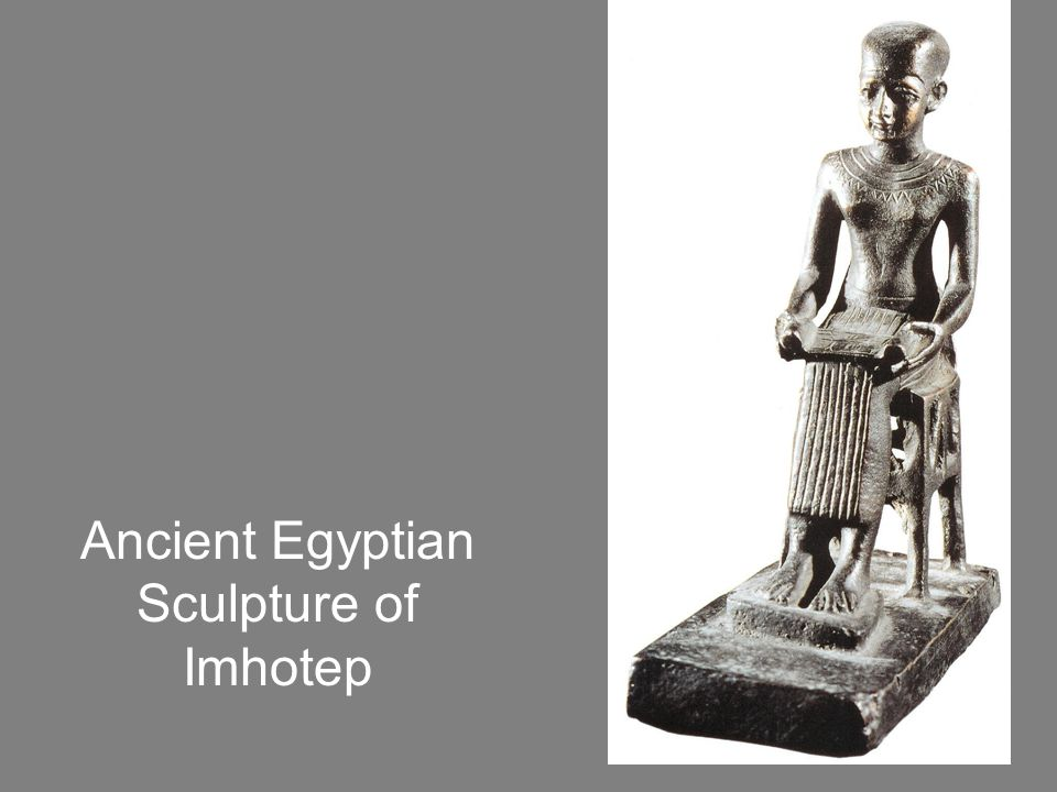 The Project Manager Imhotep has been credited as the first recorded name of an architect.