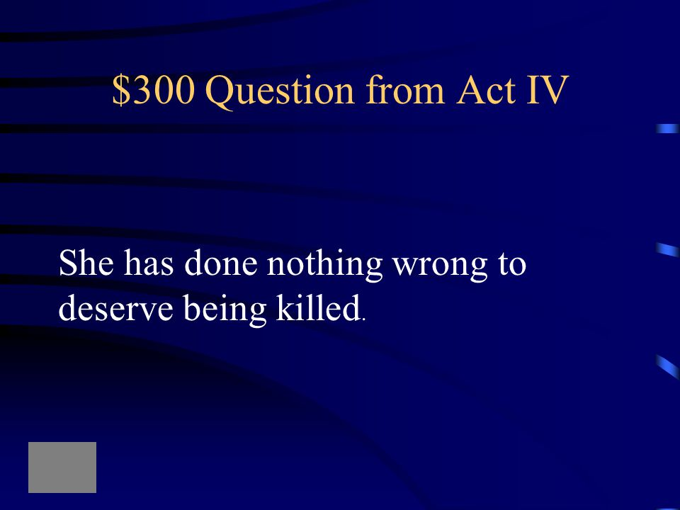 $200 Answer from Act IV What is the lie Lady Macbeth told At the banquet so that their guests Did not know Macbeth was Riddled with guilt