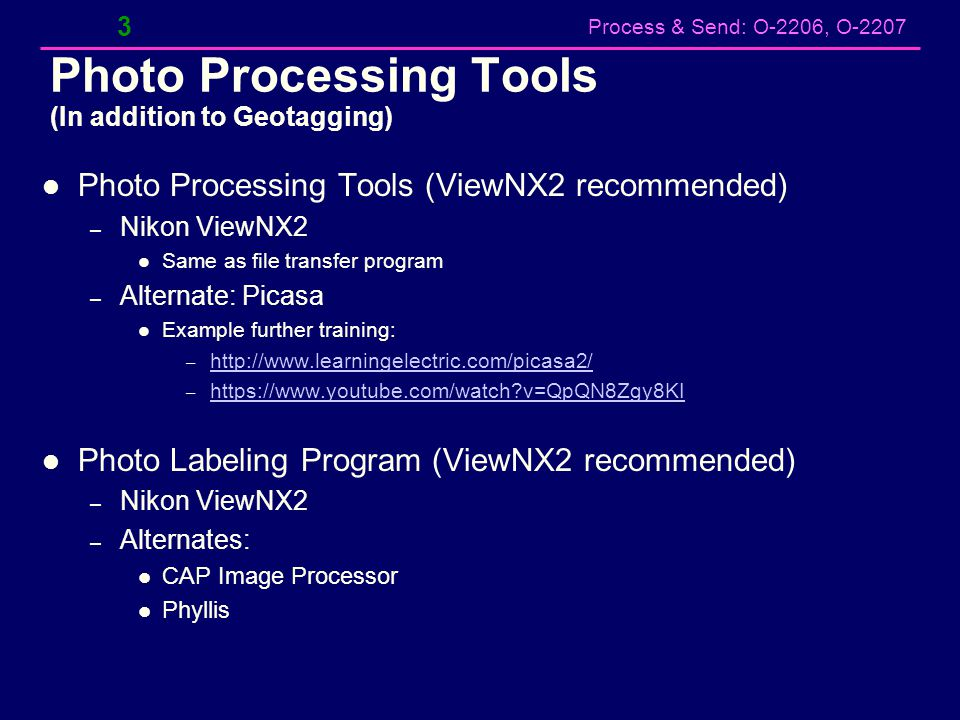 Process & Send: O-2206, O-2207 CAPUploader App (Beta Version) - 2 14 5.