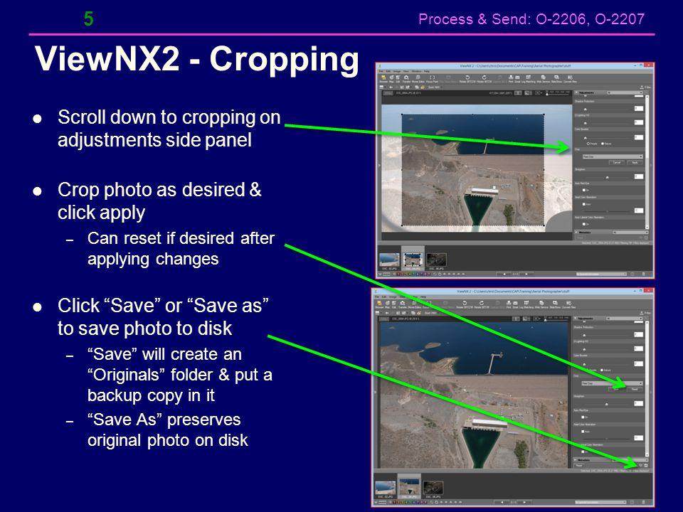 Process & Send: O-2206, O-2207 Backup 26