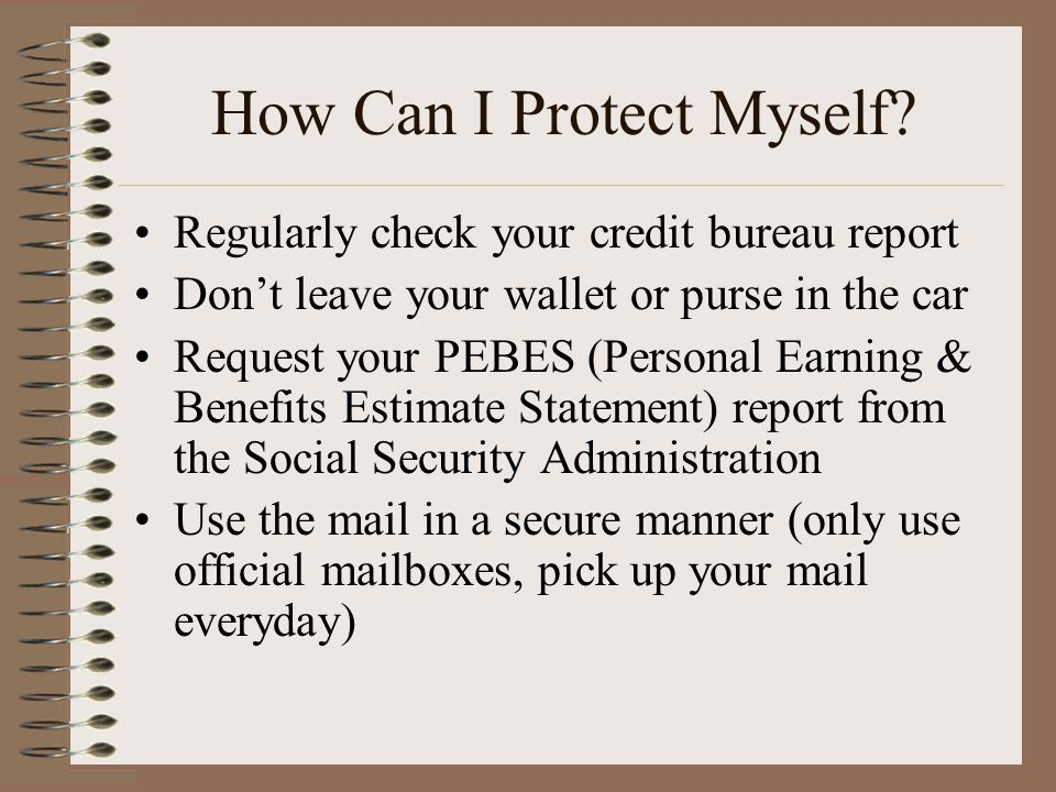 How Can I Protect Myself.