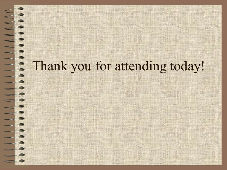 Thank you for attending today!
