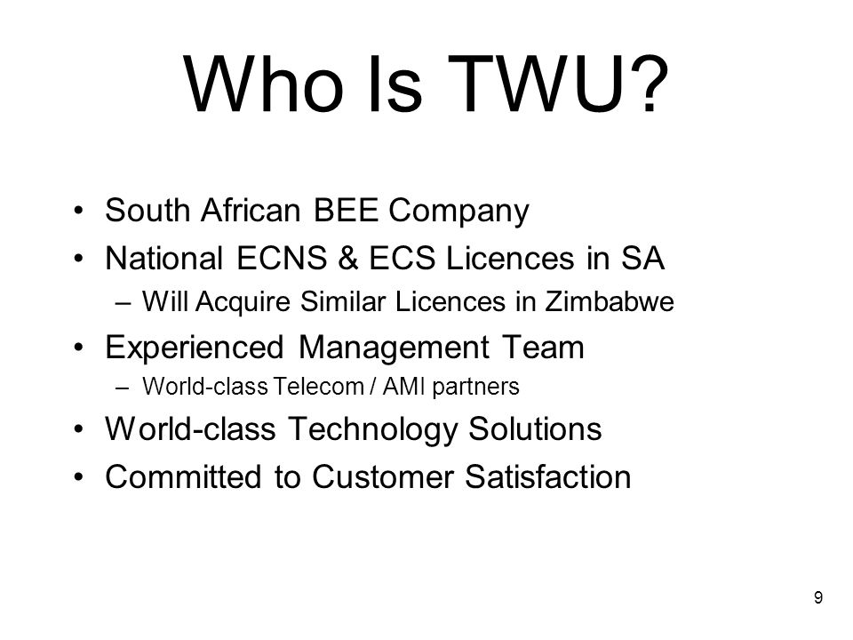 9 Who Is TWU.